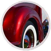 Red Chevy Pickup Fender Round Beach Towel