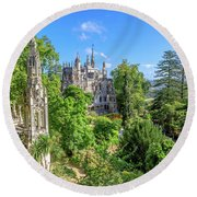 Regaleira Palace Sintra Round Beach Towel