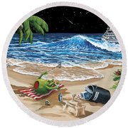 Rehab Round Beach Towel