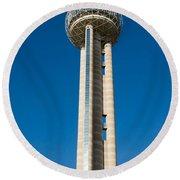 Reunion Tower - Dallas Texas Round Beach Towel