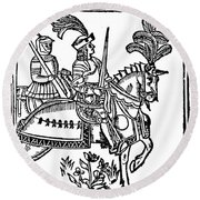 Richard I (1157-1199) Round Beach Towel
