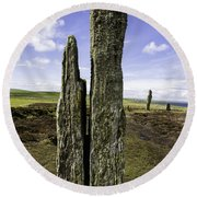 Ring Of Brodgar Round Beach Towel