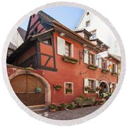 Riquewihr France Round Beach Towel