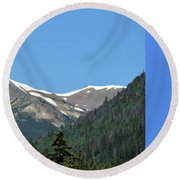Rocky Mountains 2 Round Beach Towel