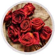 Rose - Flower Round Beach Towel