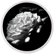 Roses In Moonlight 4 Round Beach Towel