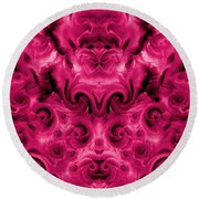 Roses Tapestry And Curls Round Beach Towel