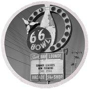 Route 66 Bowl Round Beach Towel