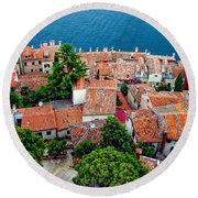 Rovinj - Croatia Round Beach Towel
