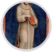 Saint Francis Of Assisi Round Beach Towel