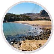 Sand Beach Acadia National Park Round Beach Towel