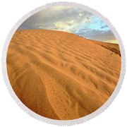 Sand Dune At Great Sand Hills In Scenic Saskatchewan Round Beach Towel