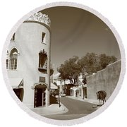 Santa Fe New Mexico Round Beach Towel
