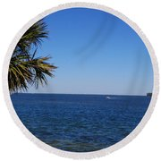 Sarasota Bay Round Beach Towel