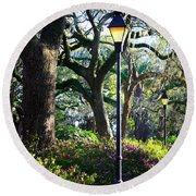Savannah Spring Perspective Round Beach Towel