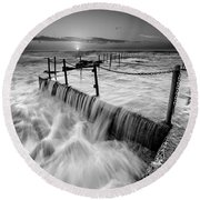 Seascape 20 Round Beach Towel