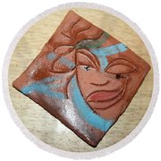 Serena - Tile Round Beach Towel