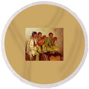 Sharp Joseph Henry Hunting Song Taos Indians Joseph Henry Sharp Round Beach Towel