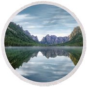 Ship Island Lake Round Beach Towel
