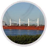 Shipping - New Orleans Louisiana Round Beach Towel