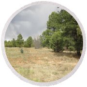 Show Low Landscape Round Beach Towel