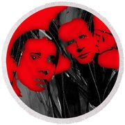 Simon And Garfunkel Collection Round Beach Towel