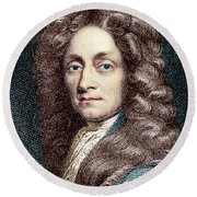 Sir Christopher Wren, Architect Round Beach Towel