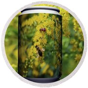 Small Insect Round Beach Towel
