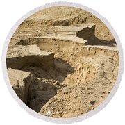 Soil Erosion Round Beach Towel