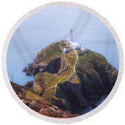 South Stack - Wales Round Beach Towel