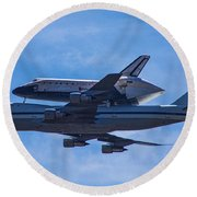Space Shuttle Endevour Round Beach Towel