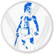 Spartan Hero Round Beach Towel