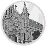 St. Mary Cathedral Round Beach Towel