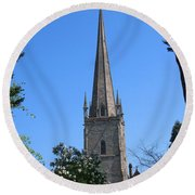 St Mary The Virgin Ross-on-wye Round Beach Towel