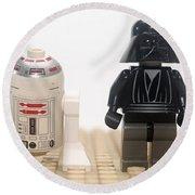 Star Wars Action Figure  Round Beach Towel