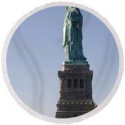 Statue Of Liberty. Round Beach Towel