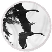 Stone Birds Round Beach Towel