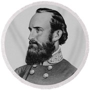 Stonewall Jackson - Six Round Beach Towel