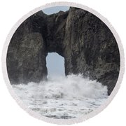Storm Rock Round Beach Towel