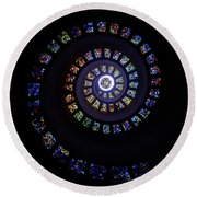 Colorful String Of Diamonds Round Beach Towel