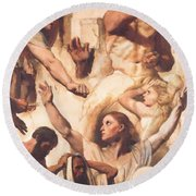 Study For The Martyrdom Of St Symphorien 1834  Round Beach Towel