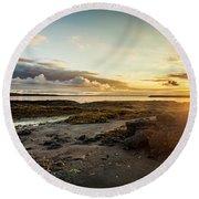 sunset Iceland Round Beach Towel