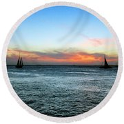 Sunset Key West  Round Beach Towel