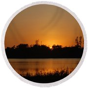 Sunset On The Edge Round Beach Towel
