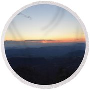 Sunset Over Kings Canyon In The Southwest Sierra Nevadas Round Beach Towel