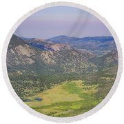 Superb Landscape In Rocky Mountain National Park Round Beach Towel