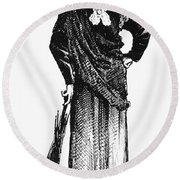 Susan B. Anthony (1820-1906) Round Beach Towel