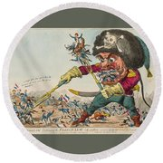 Swallow Destroying The French Army, Round Beach Towel