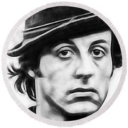 Sylvester Stallone Collection Round Beach Towel