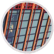 Tall Building Showing Colors #2 Round Beach Towel